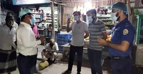 গৌরনদীতে স্বাস্থ্যবিধি না মানায় ব্যবসা প্রতিষ্ঠান ও পথচারীদের জরিমানা