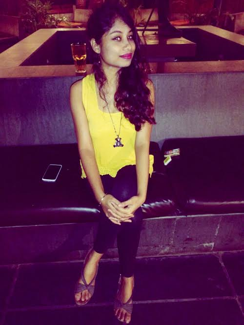 Yellow color with black color