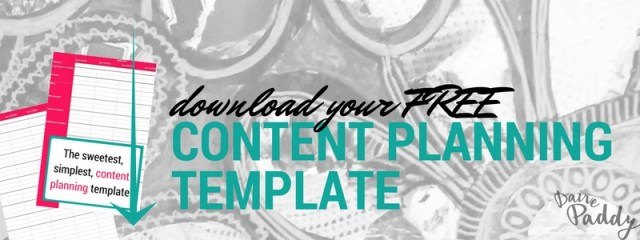 download content plan template