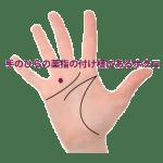 ⑤手のひらの薬指の付け根にあるほくろ占い