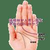 結婚線が人差し指と中指の間に向かう手相