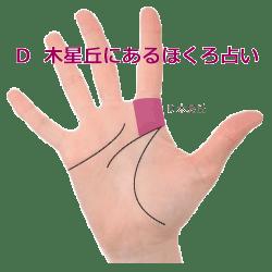 手のひらの木星丘にあるほくろの意味