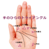 【手相紋占い⑤】手のひらにトライアングル△(三角紋)がある手相