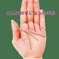 三本川の字