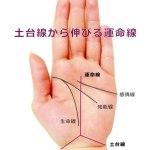 運命線の起点で占う-⑨手首の上の三角形(土台線)から運命線が伸びる手相