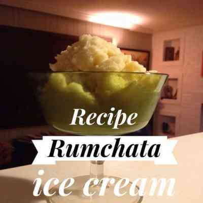 Rumchata Snow Ice Cream Recipe. #NonDairyCarrie