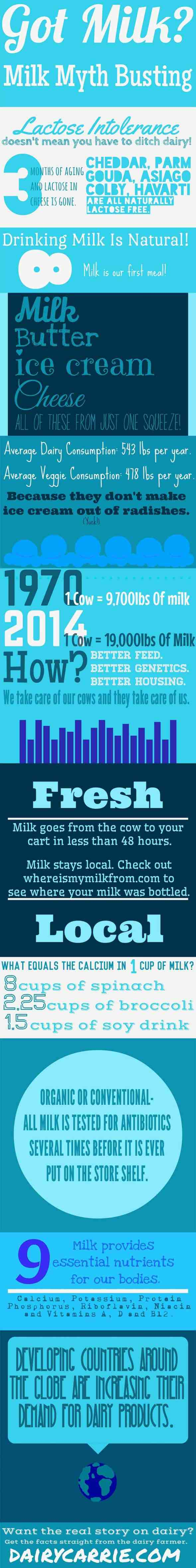 Got Milk? Milk Myth Busters from DairyCarrie.com - Have questions? Ask a dairy farmer!