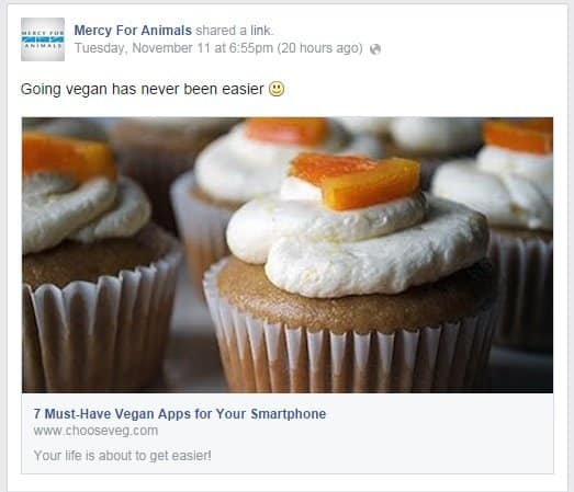 With posts like this on Facebook, Mercy For Animals cant deny that they want you to stop eating animal products.
