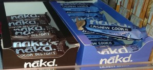 Nakd bars: Cocoa delight and Cashew Cookie