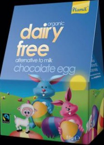 Plamil dairy free alternative to milk chocolate egg