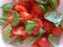 Recipe: Cherry Tomato and Basil Salad