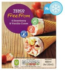 tesco ff ice cream cones