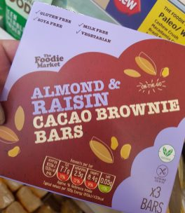 Almond Raisin Cacao Brownies