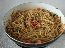 smoked salmon and lime spaghetti