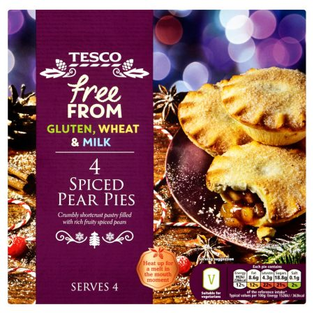 Tesco Free From Spiced Pear Pies