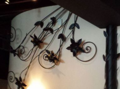 Magnolias wrought iron decoration