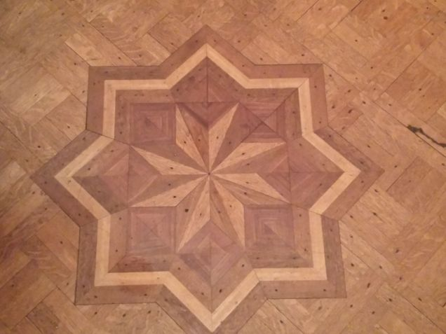Parque floor at Rutledge House
