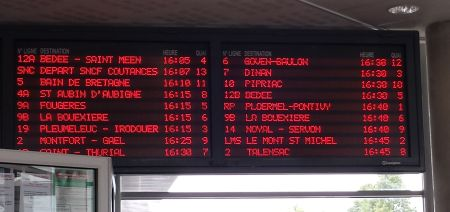 Board of Bus Departures