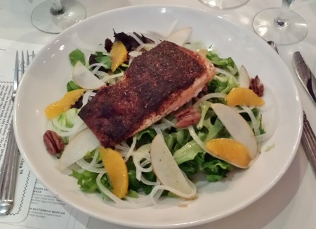 Blackened Salmon Salad at Halls Chophouse