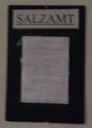 Salzamt Sign