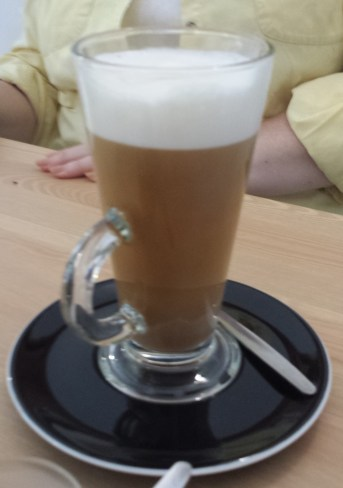 Macchiato Made with Coconut Milk at Soya Cafe