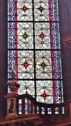 Detail of Chapel Stained Glass Window Rouen Cathedral