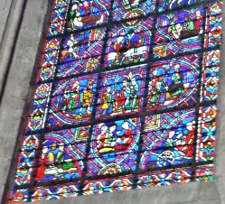 Detail of St Julian the Hospitaller Window Rouen Cathedral