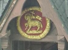 Lamb Symbol on Rouen Building