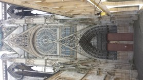 North Portal Rouen Cathedral with Flamboyant Gothic Ornament