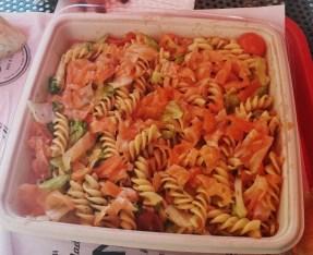 Salmon and Pasta Salad at Bram's Deli