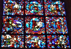 Stained Glass Detail Rouen Cathedral