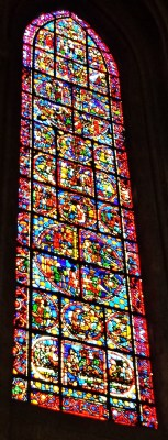 Stained Glass Window Rouen Cathedral