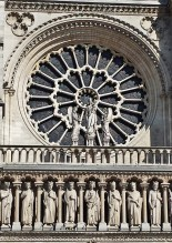 Western Rose Window with Queen of Heaven and Angels