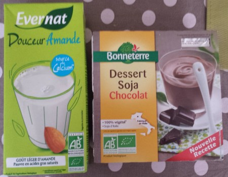 Purchases from Natural Food Store - Almond Milk and Soy Chocolate Pudding