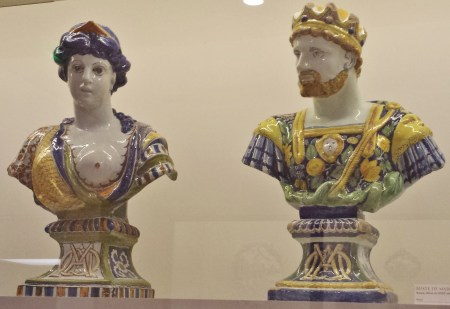 Earthenware Sculptures of Cleopatra and Marc Antony