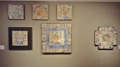 Wall of Masseot Abaquesne Floor Tiles