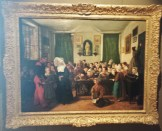 Painting of Crowded Classroom