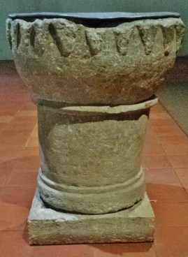 St. Wandrille Abbey Church Baptismal Font