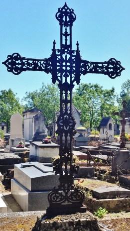 Wrought Iron Cross Gravemarker