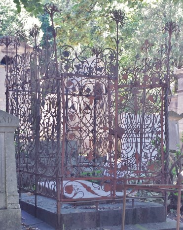 Wrought Iron Gates Surrounding Cemetery Plot