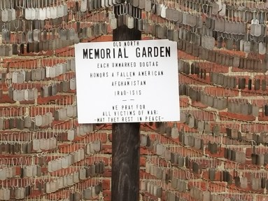 Old North Church Memorial Garden Sign