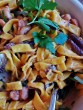 Saffron Tagliatelli with Octopus and Shrimp