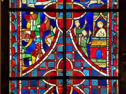 Stained Glass Scenes Life of Saint Vincent, detail
