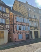 Some of Colmar's Pastel Colored Half-Timbered Houses
