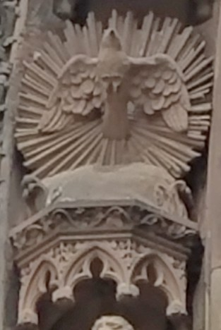 Exterior Detail of the Holy Spirit Dove
