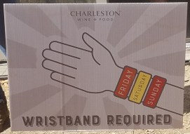 Culinary Village Wristband Sign