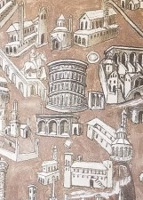 Detail of 15th Century Illustration of Rome and the Colosseum