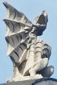 Dragon over Entrance to Villa Borghese Gardens