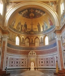 Altar with Mosaics in Basilica of San Giovanni in Laterano Rome