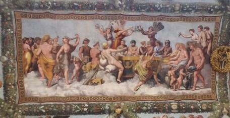 Ceiling of First Floor Gallery at Villa Farnesina